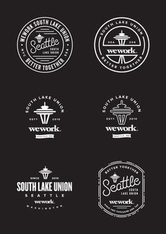 Vintage Graphic Design We Work Better Together, South Lake Union, Seattle // Catalogue Design, Logo Montagne, Photoshop, Graphic Design Typography, Branding Design, Logo Branding, Brand Identity, Union Logo, Gfx Design
