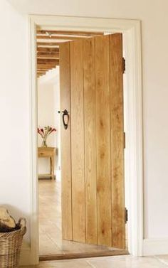 Internal door - Solid Oak Ledged