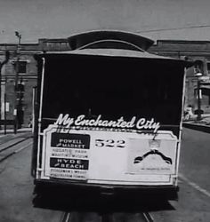 My Enchanted City (1968) KRON-TV special program featuring views of San Francisco edited to a musical score by Stephen McNeil, with lyrics by Libby McNeil and conducted by David Rose and his orchestra. This film is similar in style and artistic tone to sequences from classic 1950s Hollywood musicals and attempts to mythologize the city and it's people. Also includes several aerial shots of San Francisco. It was written and produced by Larry Russell and directed by Dick Behrendt.