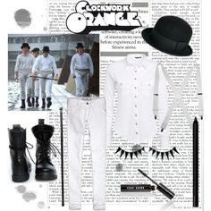 """Clockwork Orange"" by lilyshipwreck on Polyvore"