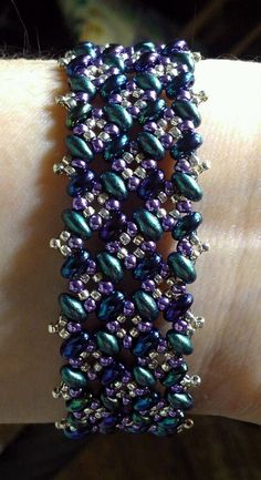 Patchwork Bracelet Pattern Tutorial for twin or duo seed beads