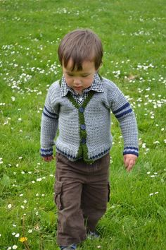Cute free sweater pattern think it would look cute on a girl as well!