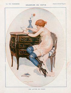 Gerda Wegener 1916 Morning Mail. We love early 20th century illustrations