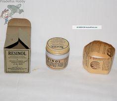 Resinol Milk Glass Medicine Bottle Jar 1933 W/box, Instructions, Germicidal Soap