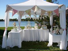 A few pretty booth ideas - love the open feeling of this one - very clean.
