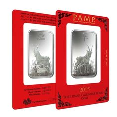 1 oz PAMP Suisse Year of the Goat Silver Bar (In Assay) | Bullion Exchanges