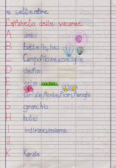 APEdario: L'alfabeto delle vacanze