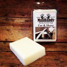 Cut & Shave Scented Soap 3oz. Bar www.ManHandsSoap.com