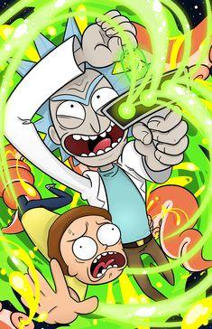 Rick and Morty es una serie animada para adultos en el cual un científico loco regresa con su familia de una manera muy desconcertante, que a medida que pasan los capítulos se va descubriendo el motivo de su regreso. Morty (el nene) es su nieto y ambos se encaminan a unas aventuras muy raras y locas tratando temas políticos, parodias, y demás cosas, obviamente para adultos.