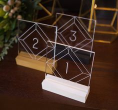 Clear Acrylic Table Numbers via Etsy