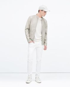 ZARA - COLLECTION SS15 - PERFORATED FAUX LEATHER JACKET