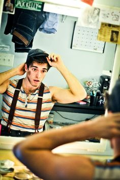 Photo 1 of 22 | Newsies leads Andrew Keenan-Bolger (Crutchie), Ben Fankhauser (Davey) and Corey Cott (Jack Kelly) check in backstage at the Nederlander Theatre. | Photo Exclusive! Birthday Parties, Costume Changes & More Backstage Fun at Newsies | Broadway.com