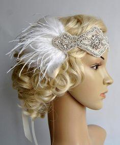 Rhinestone pearls flapper Gatsby Headband, Wedding Headband,Crystal Headband,Wedding Headpiece,Halo Bridal Headpiece, 1920s Flapper headband