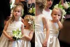 love that flower girl dress. why didn't we think of that. lace on top, satin bottom.