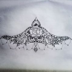 Rose sternum tattoo idea, already have a rose tattoo and have an idea for another one, but this is gorgeous