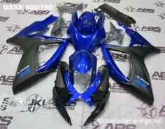 Blue & Matte Black GSXR 600/750 (24pc) ABS Fairing Set that is going on a MotorcycleFairings.net customers gixxer
