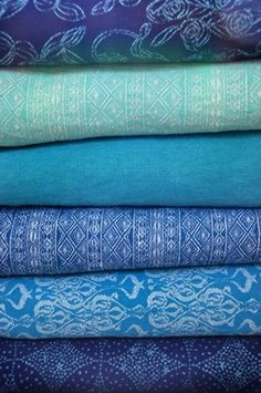 gorgeous blue fabrics...