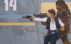 Han Solo and Chewbacca by Phil Noto