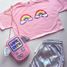 Tumblr Outfits, Swag Outfits, Casual Outfits, Fashion Outfits, Cute Girl Outfits, Cute Outfits For Kids, Kawaii Fashion, Cute Fashion, Teenager Mode