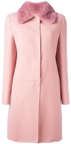 Ermanno Scervino collar detail fitted coat