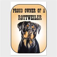 Köpekli - Proud Owner of a Rottweiler Kendin Tasarla - Kanvas Tablo 60x90 cm Dikey