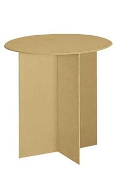 Round Display Table With Wood Finger Groove Legs