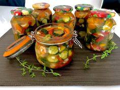 Ogórki w zalewie gyros - Blog z apetytem Tasty Dishes, Chutney, Sweet Recipes, Cucumber, Pickles, Grilling, Mango, Food And Drink, Yummy Food