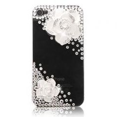 Luxury Set Auger Crystal Camellia iPhone 4/4S Cases