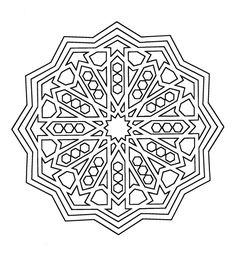 To Paint Mandalas: Mandala Coloring Alhambra with example Pattern Coloring Pages, Mandala Coloring Pages, Colouring Pages, Printable Coloring Pages, Coloring Sheets, Coloring Books, Mandalas Painting, Mandalas Drawing, Doodles Zentangles