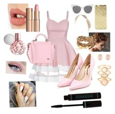 """Pink Princess- Gigi"" by secretly-twins ❤ liked on Polyvore featuring Sophia Webster, Givenchy, Sonix, Blanc & Eclare, Wet Seal, Kenneth Jay Lane, Accessorize and Charlotte Tilbury"