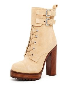 Michael Kors Lace-Up Buckle Boot.$1798---> someone tell me why?! they are gorgeous and I want them but for a cheaper price tag