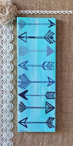 """Arrows Painting on Canvas 12"""" x 4"""""""