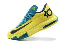 cheap for discount d0eae 27451 Yellow Teal Navy Nike KD 6 599424 700 Air Jordan 9, Air Jordan Future,