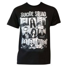 Wear the mug shots of your favorite anti-heroes on your chest when you wear this…