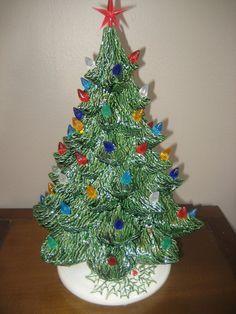 Classic Ceramic Christmas Tree Green or by MnMCustomCeramics