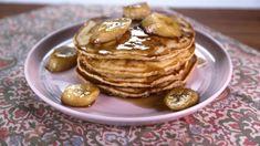 Brown  Sugar  Pancakes  with Bananas Flambe