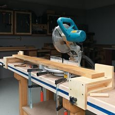 Versatile Miter Saw Workstation, a couple of these modified would be great for a temporary bench out of the shop.