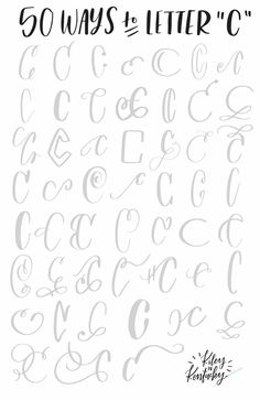 50 Ways to Letter - C