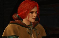 Triss Merigold Witcher 3 Triss, Witcher Art, The Witcher Wild Hunt, The Witcher 3, Triss Merigold, Geralt Of Rivia, Star Wars Games, Medieval Fantasy, Female Characters