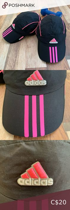 Set of 2 Adidas Adizero ClimaCool Running Caps These caps are in good condition. Climacool keeps you cool and dry in warm weather Medium curved brim Hook-and-loop back strap for adjustable fit 100% polyester mes Great for running and is light and breathable adidas Accessories Hats Adidas Baseball Cap, Adidas Cap, Pink Adidas, Black Adidas, Adidas Bucket Hat, Red Bucket Hat, Adidas Beanie, Denim Hat, Winter Headbands