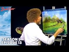 Arte, Teatro, Música y Literatura: Bob Ross - Meadow Stream (Season 5 Episode Pinturas Bob Ross, Acrylic Painting Techniques, Painting Videos, Oil Painting Lessons, Bob Ross Youtube, Ross Island, The Joy Of Painting, Time Painting, Bob Ross Paintings