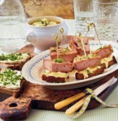 leberkäse spieße mit ei alternativ Fleischwurst...