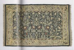 """Craftsman Rug. From Arts & Crafts Rugs, page 42-43. It's """"Flowery Field"""" designed by William Morris in 1885."""