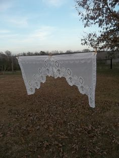 Vintage Lace Curtain Kitchen Window Treatment by misshettie, $18.00