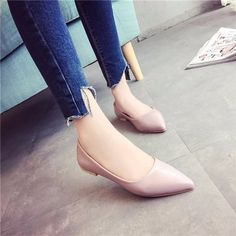 Ballet Flat Pointed Toe Slip On Boat Work Casual Loafer  http://www.newchic.com/flat-and-loafers-3615/p-1082808.html
