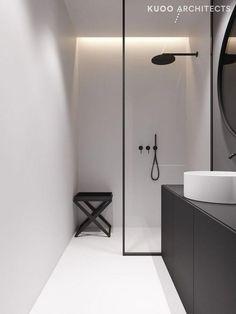 55 Small Bathroom Design and Decor Ideas Modern Master Bathroom, Minimalist Bathroom, Modern Bathroom Design, Bathroom Interior Design, Small Bathroom, Serene Bathroom, Modern Interior, Master Bathrooms, Modern Decor