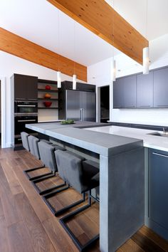 hard topix - precast concrete countertop   kitchen island