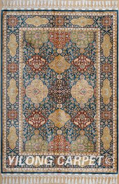 Yellow&Blue Oriental Handmade Rugs Turkish Silk Carpets Materials: Silk Dyeing: vegetable dyeing Technology: Hand Knotted Size: 2'x3' -14'x20'    Fit for: bedroom, living room, dining area, foyer, back door, porch, office etc. … Email: alice@yilongcarpet.com  WhatsApp/Tel/Wechat: +86 156 3892 7921 #chinesesilkrugonsale #handmade100%silkpersianrug #iranianrugshandmade