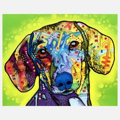Dachshund now featured on Fab.  Dean Russo artist