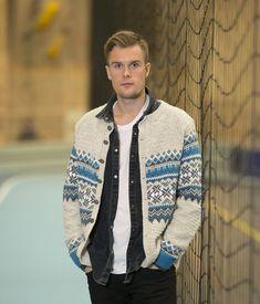 Fryd kofte modell Troy - Viking of Norway Troy, Norway, Vikings, Romper, Men Sweater, Knitting, Sweaters, Fashion, Scale Model